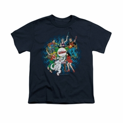 Archie Shirt Kids Psychedelic Navy T-Shirt