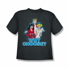 Archie Shirt Kids Why Choose Charcoal T-Shirt