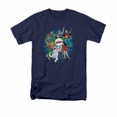 Archie Shirt Psychedelic Navy T-Shirt