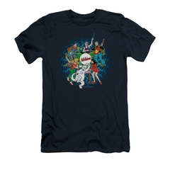 Archie Shirt Slim Fit Psychedelic Navy T-Shirt