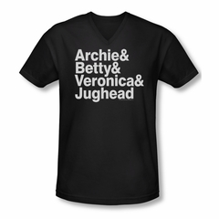 Archie Shirt Slim Fit V-Neck Ampersand List Black T-Shirt