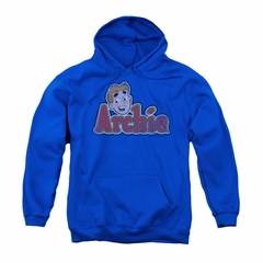 Archie Youth Hoodie Distressed Logo Royal Blue Kids Hoody