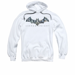 Arkham Knight Hoodie Descending Logo White Sweatshirt Hoody