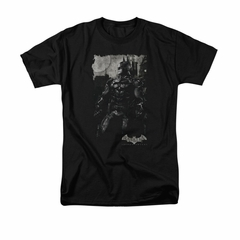 Arkham Knight Shirt Grey Photo Black T-Shirt