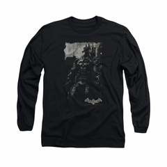 Arkham Knight Shirt Grey Photo Long Sleeve Black Tee T-Shirt