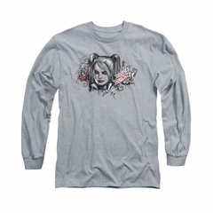 Arkham Knight Shirt Harley RIP Long Sleeve Athletic Heather Tee T-Shirt