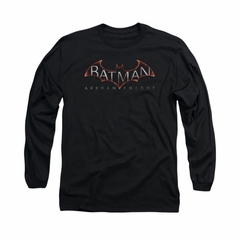 Arkham Knight Shirt Logo Long Sleeve Black Tee T-Shirt