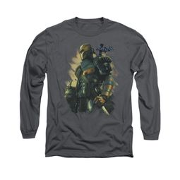 Arkham Origins Shirt Deathstroke Long Sleeve Charcoal Tee T-Shirt
