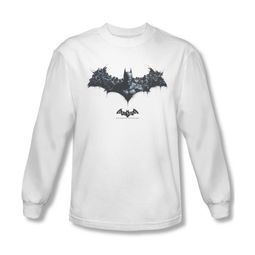 Arkham Origins Shirt Logo Of Enemies Long Sleeve White Tee T-Shirt