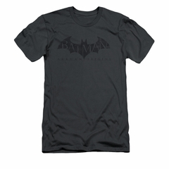 Arkham Origins Shirt Slim Fit Distressed Logo Charcoal T-Shirt