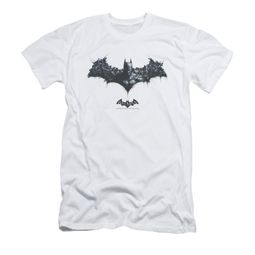 Arkham Origins Shirt Slim Fit Logo Of Enemies White T-Shirt