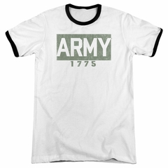 Army 1775 White Ringer Shirt
