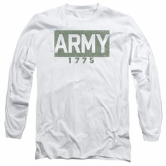 Army Long Sleeve Shirt 1775 White Tee T-Shirt