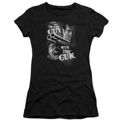 Army Of Darkness Juniors Shirt Guy With The Gun Black T-Shirt