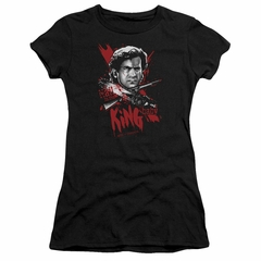 Army Of Darkness Juniors Shirt Hail To The King Black T-Shirt
