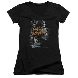 Army Of Darkness Juniors V Neck Shirt Covered Black T-Shirt