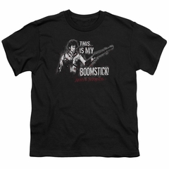 Army Of Darkness Kids Shirt Boomstick Black T-Shirt