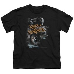 Army Of Darkness Kids Shirt Covered Black T-Shirt