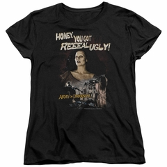 Army Of Darkness Womens Shirt Reeeal Ugly! Black T-Shirt