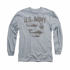 Army Shirt Airborne Long Sleeve Athletic Heather Tee T-Shirt