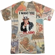 Army Shirt I Want You Sublimation T-Shirt Front/Back Print