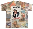Army Shirt I Want You Sublimation Youth T-Shirt Front/Back Print