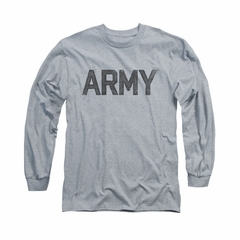 Army Shirt PT Gear Long Sleeve Athletic Heather Tee T-Shirt
