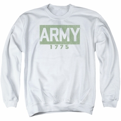 Army Sweatshirt 1775 Adult White Sweat Shirt