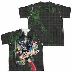 Astro Boy Group Sublimation Kids Shirt Front/Back Print