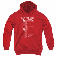 Astro Boy Kids Hoodie Schematics Red Youth Hoody