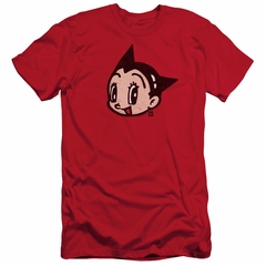 Astro Boy Slim Fit Shirt Face Red T-Shirt