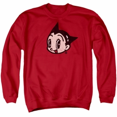 Astro Boy Sweatshirt Face Adult Red Sweat Shirt