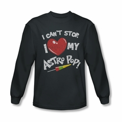 Astro Pop Shirt I Can't Stop Long Sleeve Charcoal Tee T-Shirt
