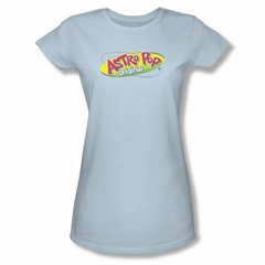 Astro Pop Shirt Juniors Logo Light Blue T-Shirt