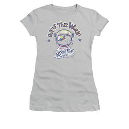 Astro Pop Shirt Juniors Out Of This World Silver T-Shirt