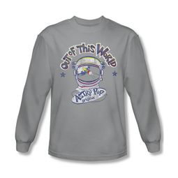 Astro Pop Shirt Out Of This World Long Sleeve Silver Tee T-Shirt