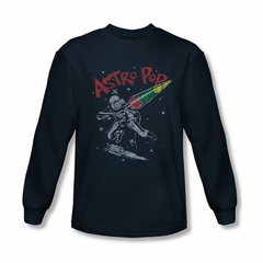 Astro Pop Shirt Space Joust Long Sleeve Navy Tee T-Shirt
