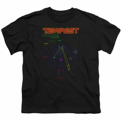 Atari Kids Shirt Tempest Screen Black T-Shirt