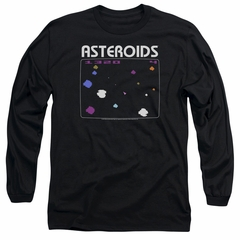 Atari Long Sleeve Shirt Asteroids Screen Black Tee T-Shirt