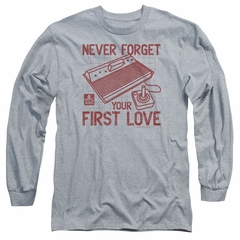 Atari Long Sleeve Shirt First Love Athletic Heather Tee T-Shirt