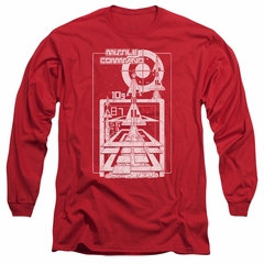 Atari Long Sleeve Shirt Lift Off Red Tee T-Shirt