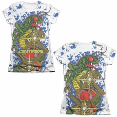 Atari Shirt Centipede Insect Attack Poly/Cotton Sublimation Juniors Front/Back Print