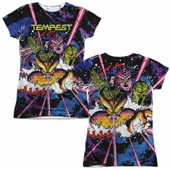 Atari Shirt Tempest Key Art Sublimation Juniors T-Shirt Front/Back Print