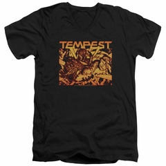 Atari Slim Fit V-Neck Shirt Tempest Demon Reach Black T-Shirt
