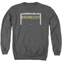 Atari Sweatshirt Breakout 2600 Adult Charcoal Sweat Shirt