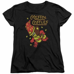Atari Womens Shirt Crystal Bear Black T-Shirt