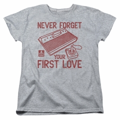Atari Womens Shirt First Love Athletic Heather T-Shirt