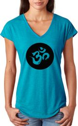 AUM Circle Ladies Yoga Shirts