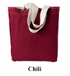 Authentic Pigment Tote Bag Direct Dyed Raw Edge Handbag