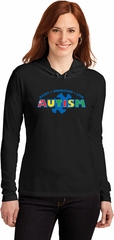 Autism Accept Understand Love Ladies Hooded Shirt